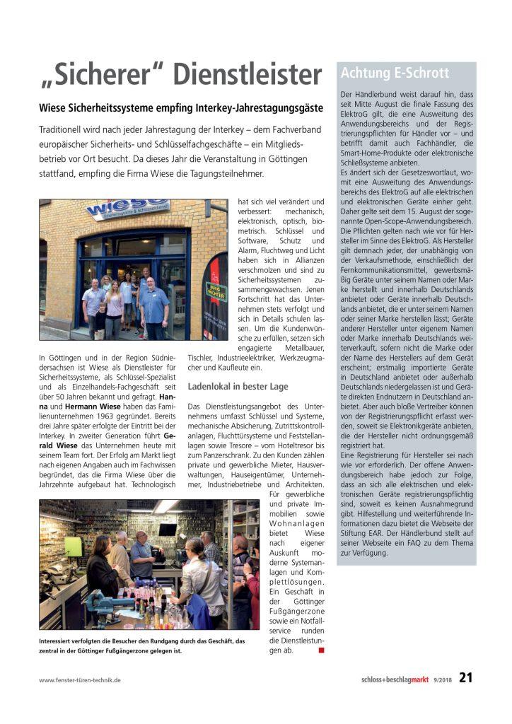 Schloss + Beschlagmarkt – 9/2018, Seite 21